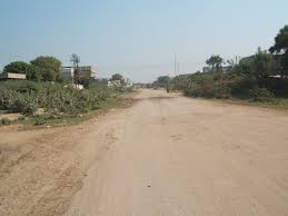 file landhi graveyard road from my hous location panoramio jpg