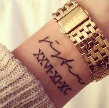 roman numeral tattoos and tattoo designs