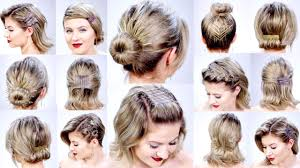 Easy On The Go Hairstyles by 11 Super Easy Hairstyles With Bobby Pins For Short Hair Milabu