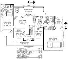3 or 4 bedroom country farmhouse plan 6542rf architectural