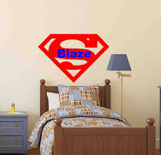 Superman Boys Room by Superman Wall Decal Superman Decor Superman Laptop