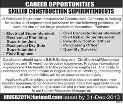 mechanical engineering jobs in dubai for freshers 2013 nissan islamabad construction company job archives jhang jobs