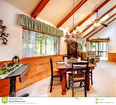 Log Home Interior Photos Log Cabin House Interior Stock Photo Image 41777413