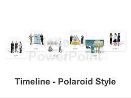timeline polaroid style editable vector graphics