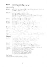 Resume For Artist Example Of Resume For High Student 10 High Resume