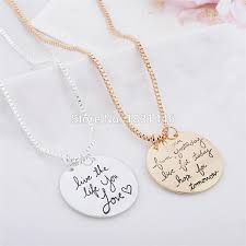 custom engraved necklace pendants jewelry clean picture more detailed picture about statement