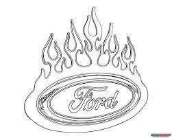 car logo coloring pages with ford trucks download and print for