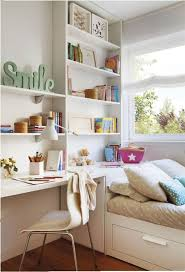Bedroom Organization Ideas Stylish Open Shelves With Bed With Storage For Small Bedroom