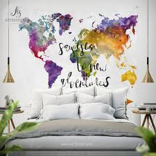 boho tapestry world map watercolor wall tapestry modern boho tapestry world map watercolor wall tapestry modern calligraphy wall tapestry hippie tapestry