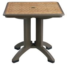 Folding Table by Grosfillex Us743037 Havana 32