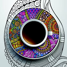 ethnic pattern ornaments and coffee cups vector 02 vector food