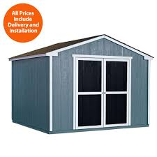installed princeton 10 ft x 10 ft wood storage shed with