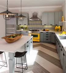 Gray And Yellow Kitchen Ideas by Houses Gardens People Dallas Interior Designer Denise Mcgaha