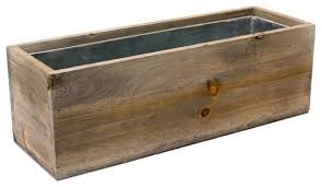 Window Boxes Planters by Cys Natural Wood Window Box Planter W Zinc Liner Rustic