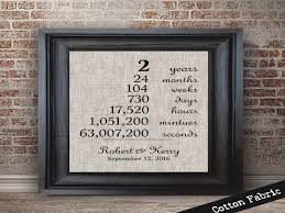 two year anniversary gift 2 year cotton anniversary gift pillow two year anniversary
