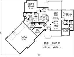 one story floor plan 2500 square foot floor plans smart design one story floor plans