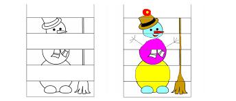print draw u0026 colour snowman