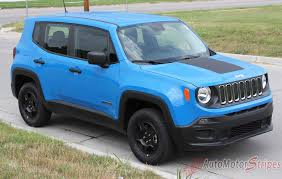 silver jeep renegade 2014 2017 jeep renegade factory oem trailhawk style hood center