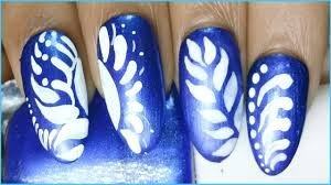easy nail art designs to do at home youtube