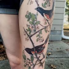 tattoo on leg for women tattoo bird tree flower leg tattoo tattoo for women animals