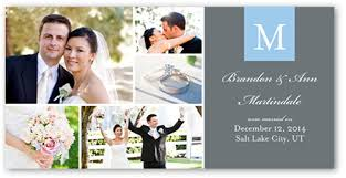 wedding announcements new initials 4x8 photo card wedding announcements shutterfly