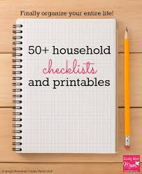 Bathroom Necessities Checklist 50 Household Checklists And Printables Mostly Free Early