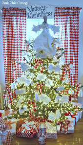 junk chic cottage nordic farmhouse red and white theme christmas