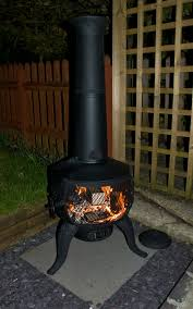 Metal Chiminea Lowes by Exterior Black Steel Chiminea For Antique Outdoor Heater Design