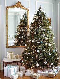 blues whites and doves tree decorating ideas