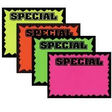 3 1 2 x 5 1 2 retail store sale sign cards special
