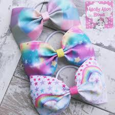 hair bows uk big small plait set mix bows
