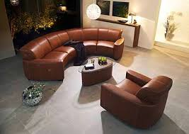 Semi Circle Couch Sofa by Leather Furniture Schillig Furniture Contemporary Leather New