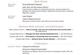 resume for lifeguard lifeguard resume sample writing tips resume