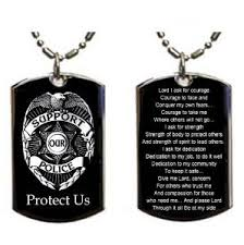 Necklace With Your Name Police Prayer Memorial Engraved Pendant Necklace Personalized With