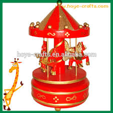 Engraved Music Box Wooden Traditional Laser Engraved Music Box Carousel Design View