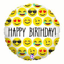 birthday balloons emoji birthday 18 34 balloon party supplies walmart
