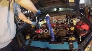 saabaru engine 2004 subaru wrx sti power steering pump removal install youtube