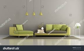 modern green brown living room sofa stock illustration 728436466