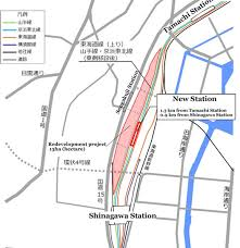 shinagawa station map the jr station near shinagawa and the plans to develop a