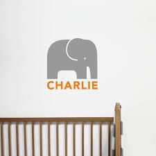 elephants wall stickers personalised children s elephant wall sticker
