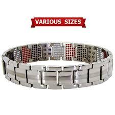 energy bracelet magnetic images Mens titanium magnetic bracelet with 600 bio elements st600 jpg