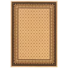 Home Depot Area Carpets Natco Sapphire Fleur De Lis Ivory 5 Ft 3 In X 7 Ft 7 In Area