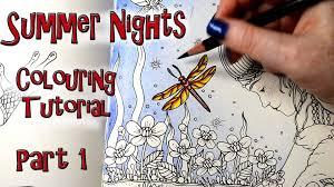 coloring book tutorial summer nights princess frog 1