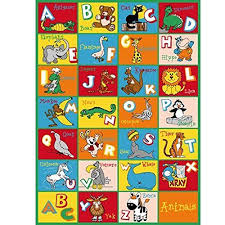 Playroom Area Rug Rug Abc Animals Area Rug 5 X 7 Children Area Rug For