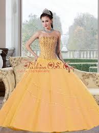 2015 quinceanera dresses beading strapless 2015 quinceanera dresses in gold