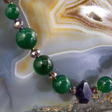 green agate necklace images Green agate purple amethyst semi precious gemstone necklace jpg