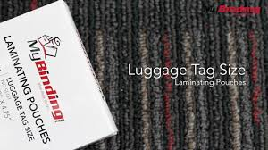 Business Card Luggage Tags Laminated Laminating Pouches Luggage Tag Size Youtube