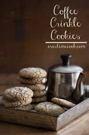 coffee crinkle cookies cookies pinterest crinkle cookies