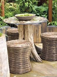 Building Outdoor Furniture What Wood To Use by She Brought An Old Tree Stump Into Her Living Room When I Saw Why