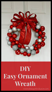 diy craft how to make an ornament wreath